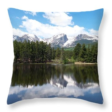 Reflections Of Sprague Lake Throw Pillow by Dorrene BrownButterfield