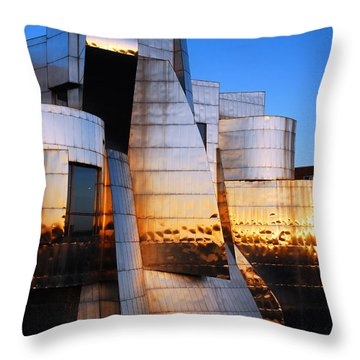 Reflections Of Sunset Throw Pillow by James Kirkikis