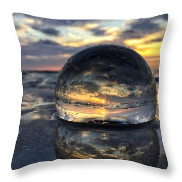 Reflections Of The Crystal Ball Throw Pillow