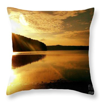 Reflections Of The Day Throw Pillow by Scott D Van Osdol