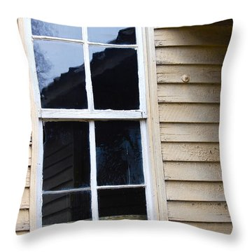 Throw Pillow featuring the photograph Reflections Of The Past by Debbie Karnes