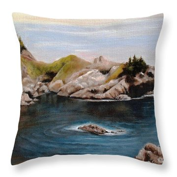 Throw Pillow featuring the painting Reflections Of The Past by Hazel Holland