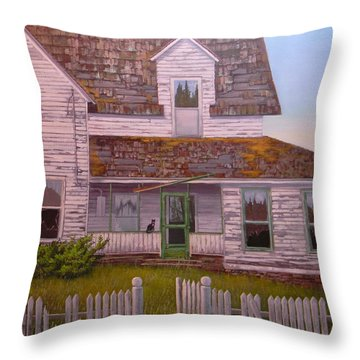 Reflections Of The Past Throw Pillow