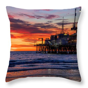 Reflections Of The Pier Throw Pillow