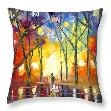 Reflections Of The Soul Throw Pillow by Jessilyn Park
