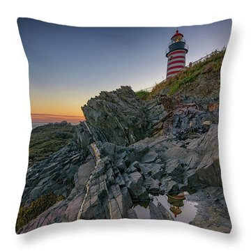 Throw Pillow featuring the photograph Reflections Of West Quoddy Head by Rick Berk