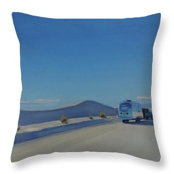 Reflections Of White Sands Throw Pillow