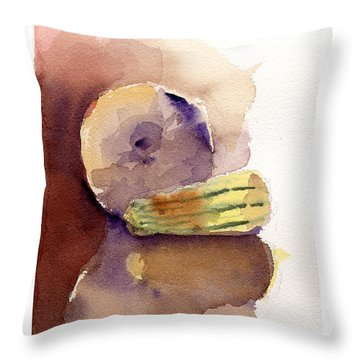 Reflections On A Winter Squash Throw Pillow