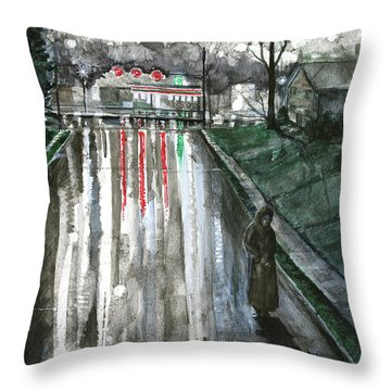 Reflections On Alone Throw Pillow by Patricia Allingham Carlson