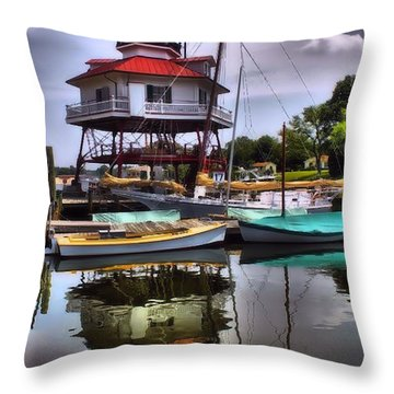 Reflections On Golden Creek Throw Pillow