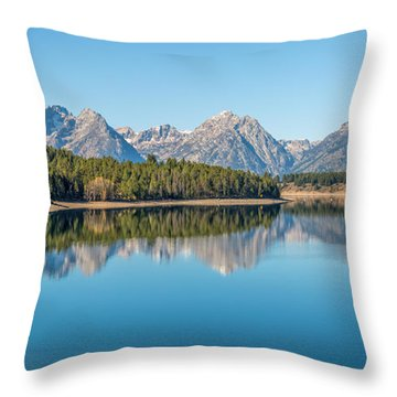 Reflections On Jackson Lake Throw Pillow