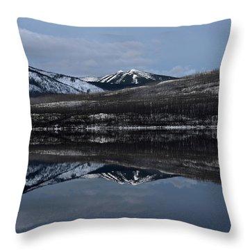 Reflections On Lake Mcdonald 3 Throw Pillow