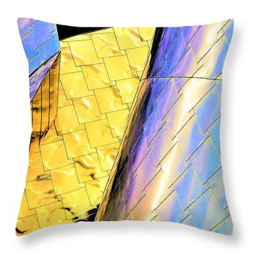 Reflections On Peter B. Lewis Building, Cleveland2 Throw Pillow