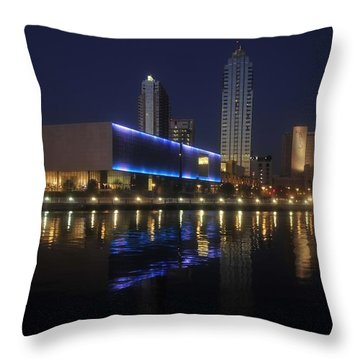 Reflections On Tampa Throw Pillow by David Lee Thompson