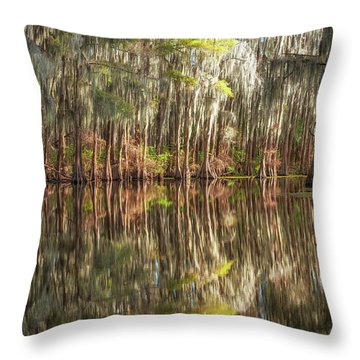 Reflections On The Bayou Throw Pillow