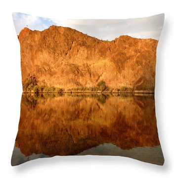 Reflections On The Colorado Throw Pillow