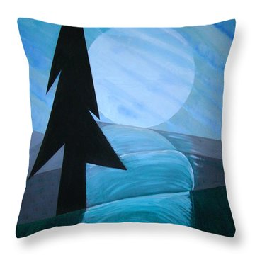 Throw Pillow featuring the painting Reflections On The Day by J R Seymour