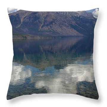 Reflections On The Lake Throw Pillow by Marty Koch