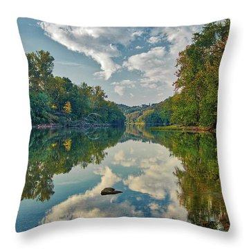 Reflections On The Meramec Throw Pillow