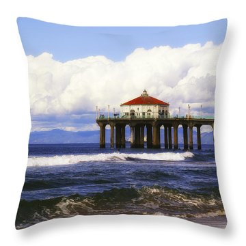 Reflections On The Pier Throw Pillow