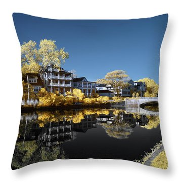 Reflections On Wesley Lake Throw Pillow by Paul Seymour