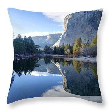 Reflections Throw Pillow by Rod Jellison
