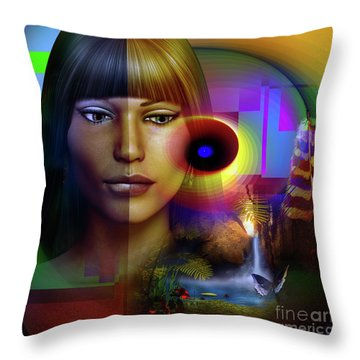 Reflections Throw Pillow by Shadowlea Is