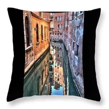 Reflections Venice Italy Throw Pillow