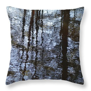 Throw Pillow featuring the photograph Reflections   Water Abstract by Sandra Updyke