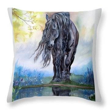 Reflective Beauty Throw Pillow