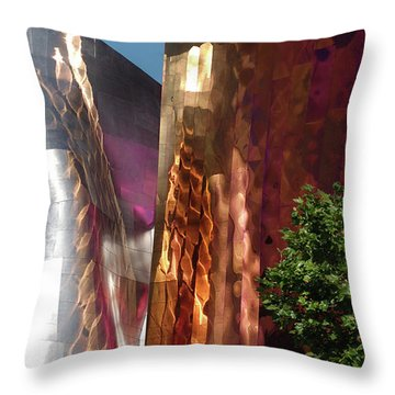Reflective Buildings Throw Pillow