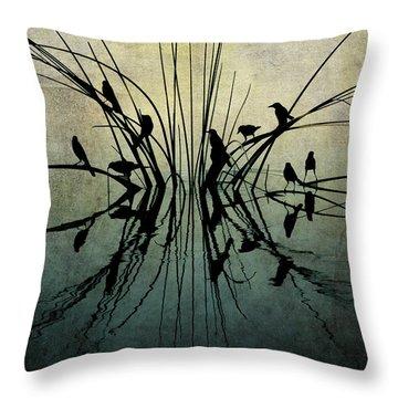 Reflective Grunge Throw Pillow