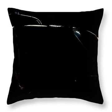 Reflective Helicopter Outline Throw Pillow by Paul Job