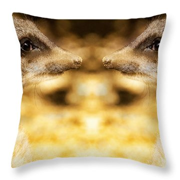 Reflective Meerkat Throw Pillow