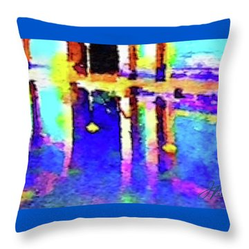 Reflective Pool Hearst Castle Throw Pillow