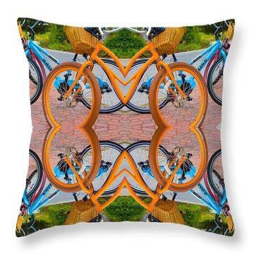 Reflective Rides Throw Pillow