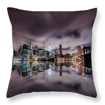 Reflector Adherence  Throw Pillow