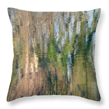 Throw Pillow featuring the photograph Reflet Rhodanien Pastel 1 by Marc Philippe Joly