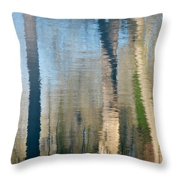 Throw Pillow featuring the photograph Reflet Rhodanien Pastel 2 by Marc Philippe Joly