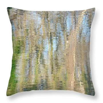 Throw Pillow featuring the photograph Reflet Rhodanien Pastel 3 by Marc Philippe Joly