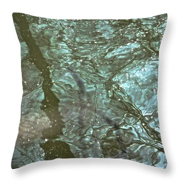 Throw Pillow featuring the photograph Reflets Feeriques 3 by Marc Philippe Joly