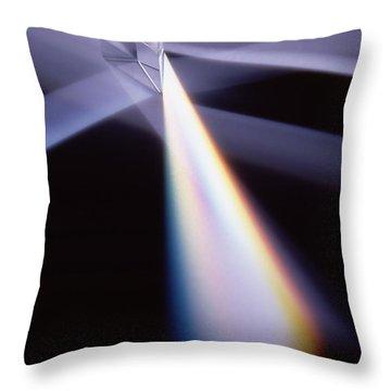 Refraction Throw Pillow by Steven Huszar