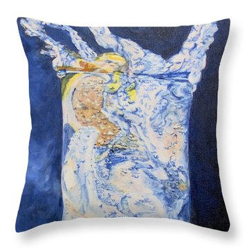 Throw Pillow featuring the painting Refresh by Saundra Johnson