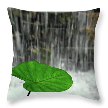 Refreshed By The Waterfall Throw Pillow