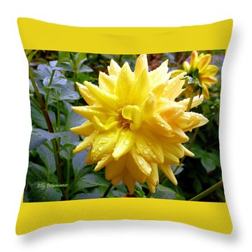 Refreshed Dahlia  Throw Pillow