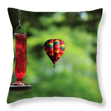 Refueling Throw Pillow by Don Gradner