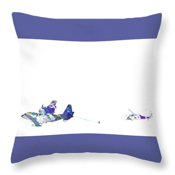 Refueling Watercolor On White Throw Pillow