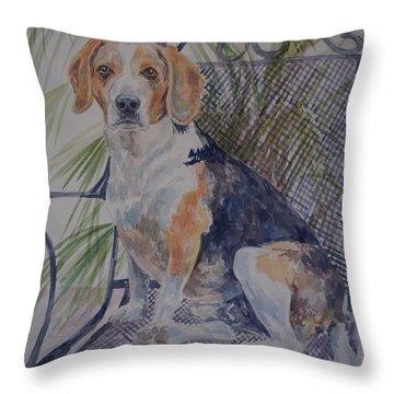Regal Beagle Throw Pillow