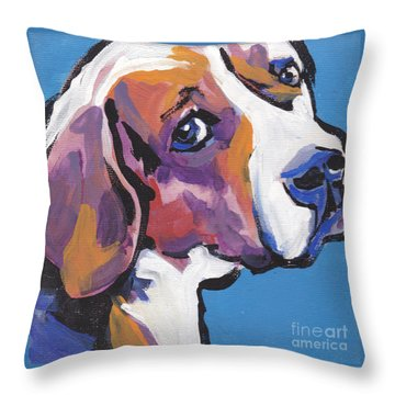 Regal Beagle Throw Pillow by Lea S