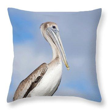 Regal Bird Throw Pillow